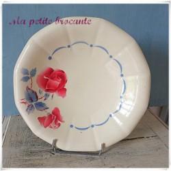 Présentoir à gâteaux ou plat sur pied Digoin & Sarreguemines modèle Boulogne