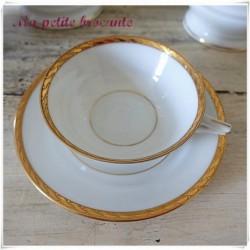 Service à café art déco de la manufacture de Limoges