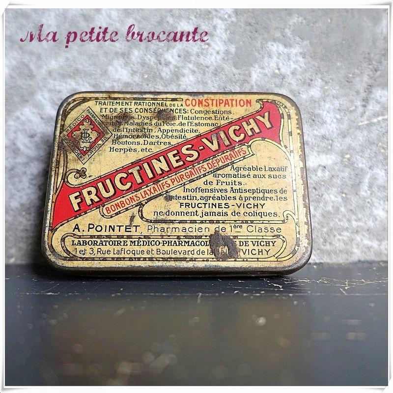 Boite pharmaceutique ancienne Fructines - Vichy