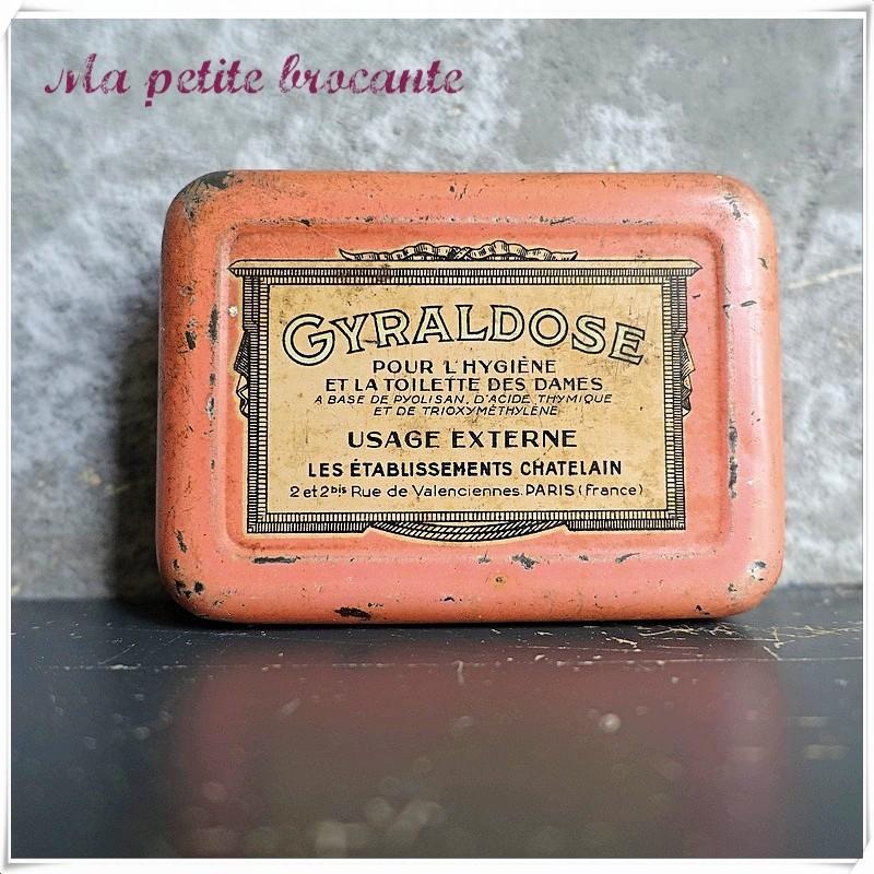 Boite pharmaceutique ancienne Gyraldose Les établissements Chatelain