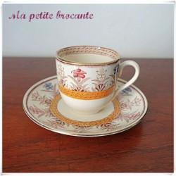 Tasse à café ancienne  Sarreguemines U & C Derby