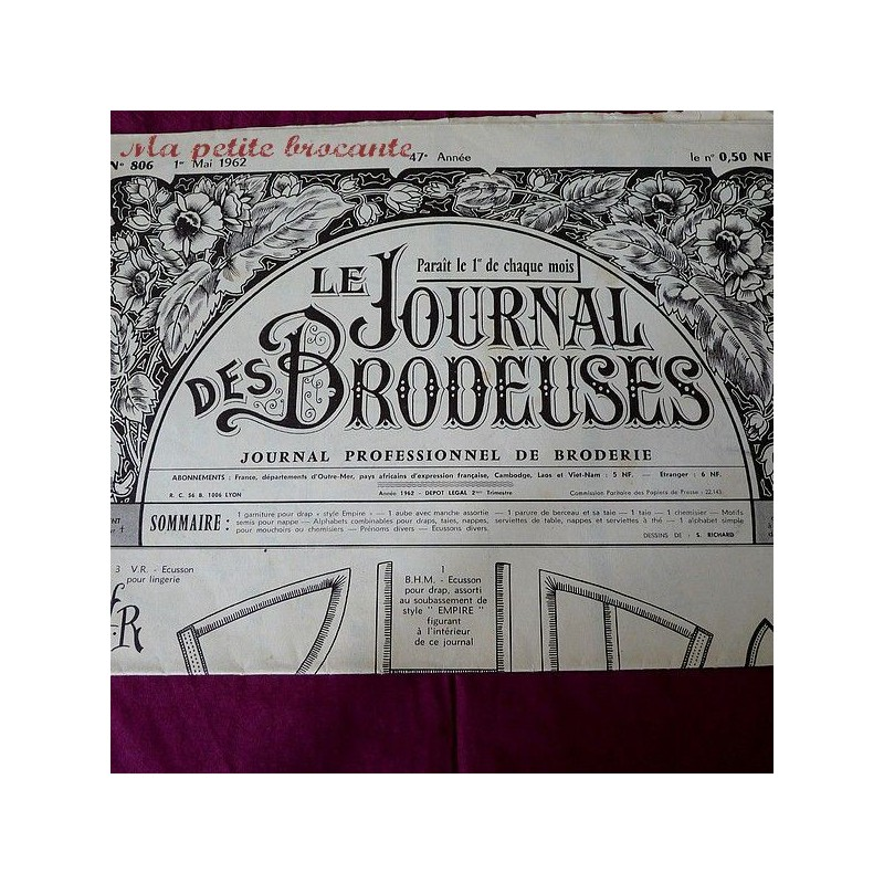 Le journal des brodeuses numéro n° 806 journal professionnel de broderie