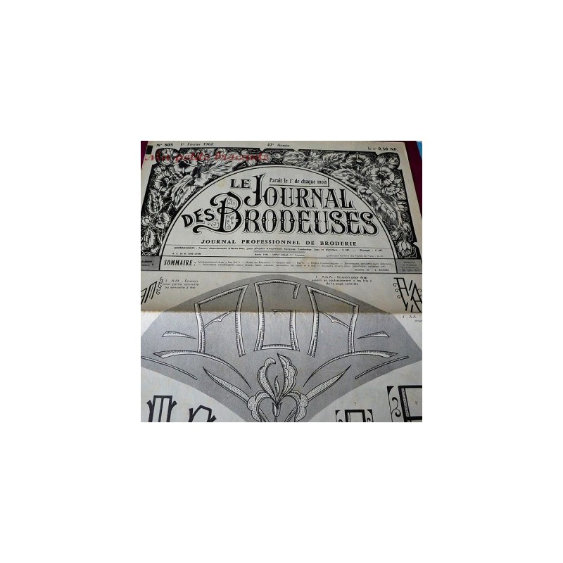 Le journal des brodeuses numéro n° 803 journal professionnel de broderie