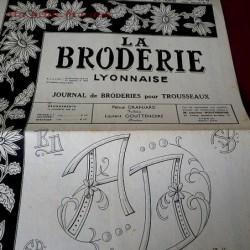 La broderie Lyonnaise numéro n° 1200 journal de broderies pour trousseaux