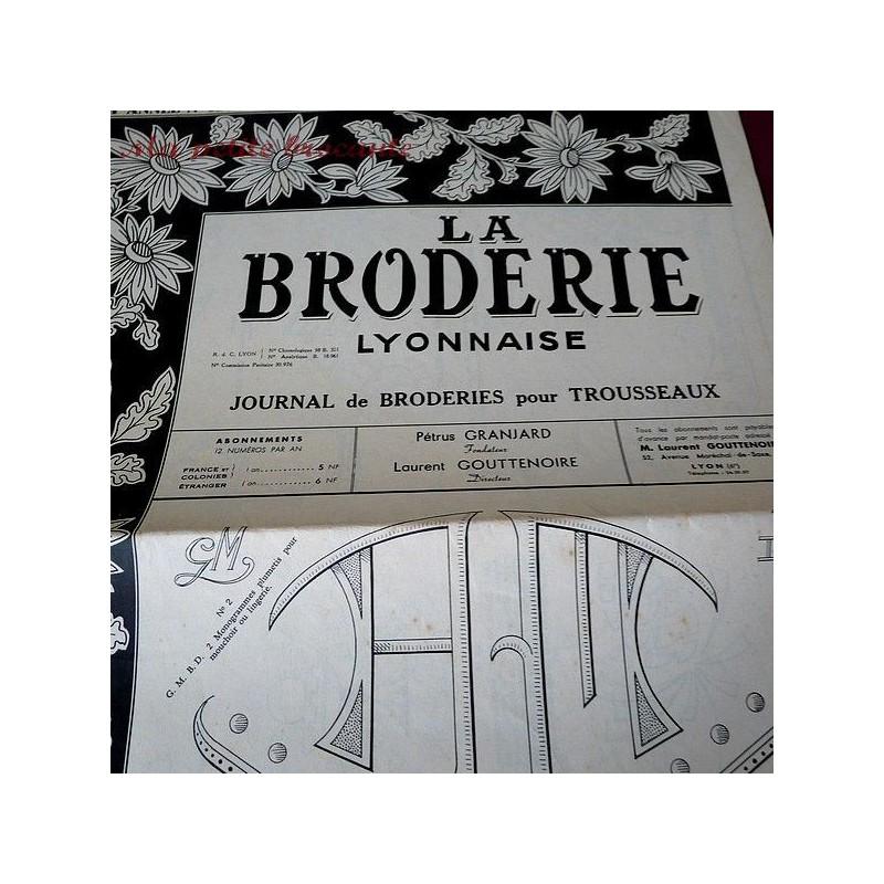 La broderie Lyonnaise  , journal de broderies pour trousseaux n° 1202