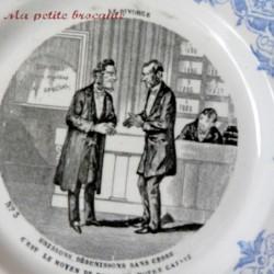 Assiette parlante vignette de la série Le divorce Creil et Montereau n° 3
