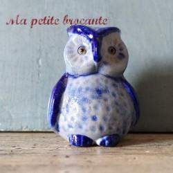 Petite chouette ancienne en grès poterie de Schmitter