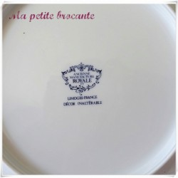 Assiette plate de l'ancienne manufacture royale de Limoges