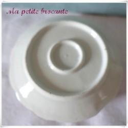 Bougeoir à main en porcelaine shabby chic