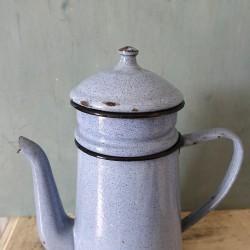 Cafetière verseuse émaillée bleue