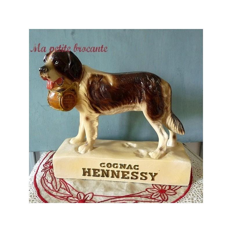Rare présentoir de bistrot publicité Saint-Bernard Cognac Hennessy