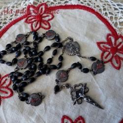 Ancien chapelet XIXème argent St Georges