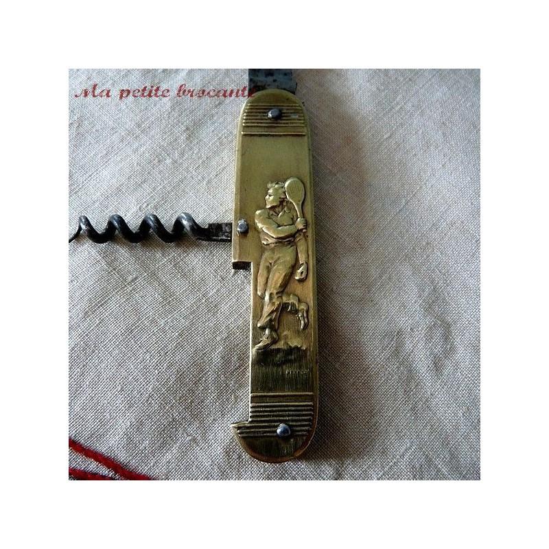 Couteau ancien Coursolle Rugby Tennis 2 pièces