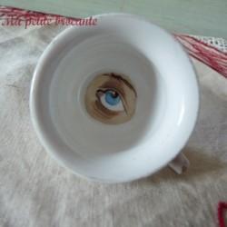 Pot de chambre de mariée miniature dinette porcelaine de Limoges