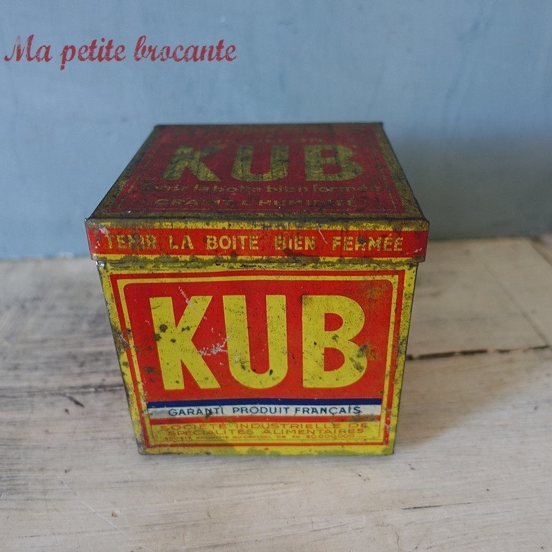 Belle boîte ancienne bouillon Kub 125 cubes