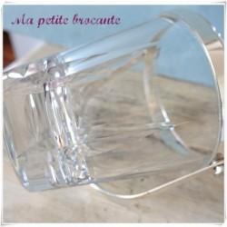 Ancien seau à glace en cristal taillé