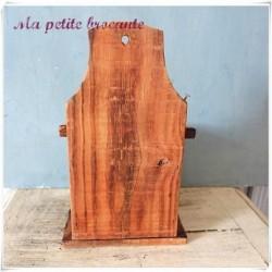 Ancienne boite à sel en bois à suspendre deco campagne