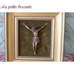 Petit cadre doré avec Jésus Christ