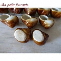 Lot de 10 anciennes coquilles à escargots en céramique