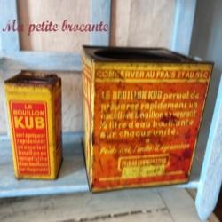 Lot de deux boites anciennes de bouillon KUB