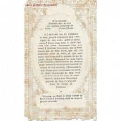 Image pieuse canivet holy card La liane unie au tronc
