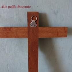 Ancien crucifix en bois et...