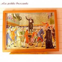 Affiche scolaire pédagogique n° 17 Le serment du jeu de paume n° 18 La prise de la Bastille