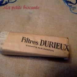Lot de cinq filtres DURIEUX garantis pur chiffon