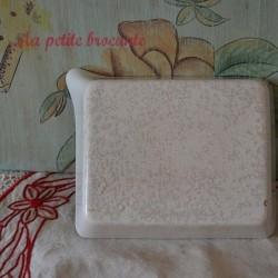 Bac cuvette pour révélateur photo en porcelaine blanche