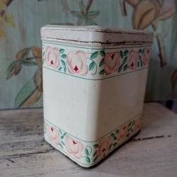 Boîte à épices en tôle Pâtes décor floral