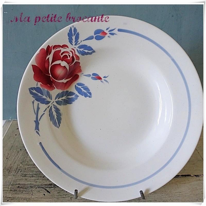 Assiette plate modèle Orchies Moulin des Loups & Hamage