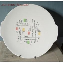Plat à gâteau Gien modèle mexico vintage des années 50/60