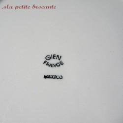 Grand plat Gien modèle mexico vintage des années 50/60