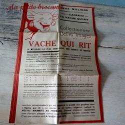 Publicité papier collectionnez les belles images Vache Qui Rit