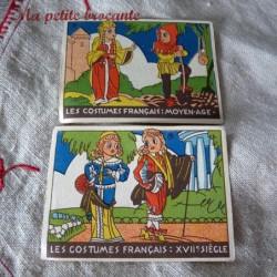 Lot de deux images Vache qui Rit les costumes