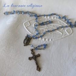 Chapelet ancien avec ses 59 perles bleues