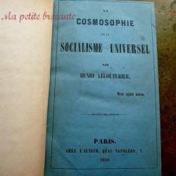 La cosmosophie ou le socialisme universel par Henri Lecouturier