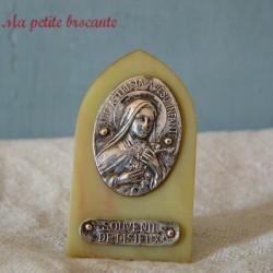 Cadre à poser religieux souvenir de lisieux Sancta Teresia a Jesu Infante