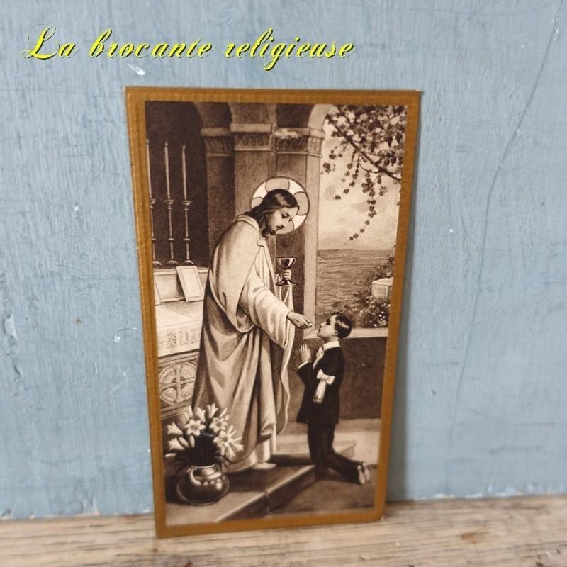 Image pieuse holy card souvenir de communion Bouasse G.M. 451