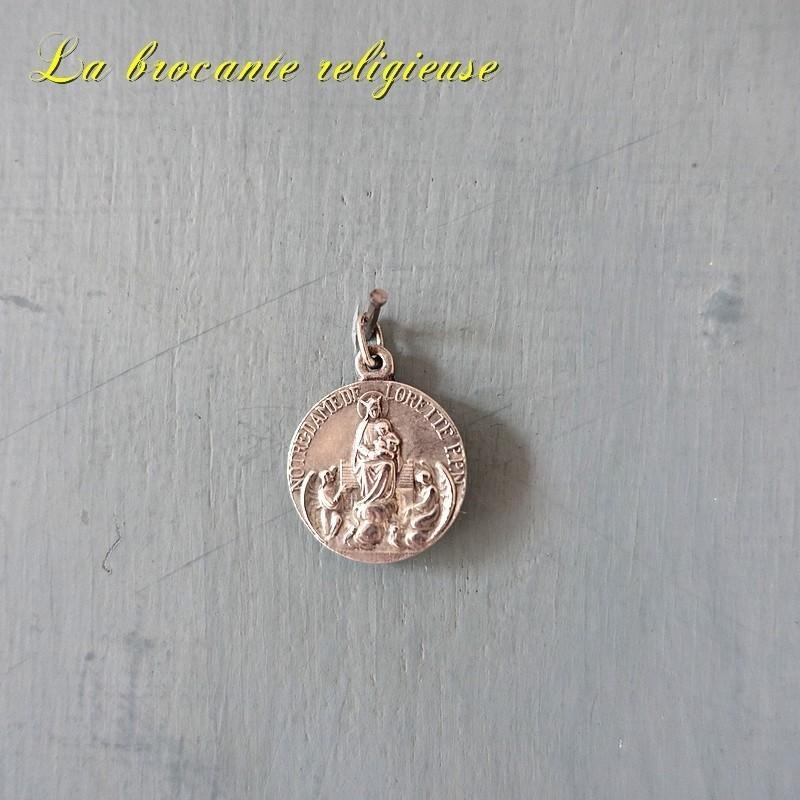 Médaille ancienne en argent de Notre Dame de Lorette PPN - 18 mm