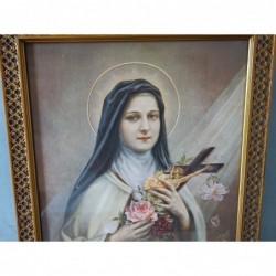 Sainte Thérèse de Lisieux lithographie signée Céline 1912