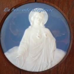 Belle plaque ancienne en porcelaine de Limoges signée et encadrée