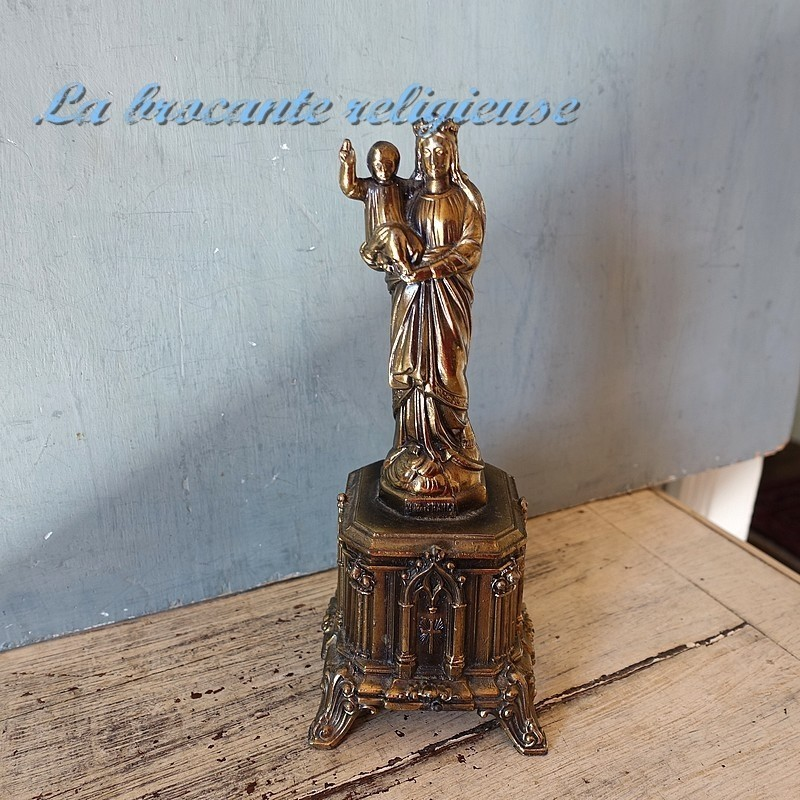 Statuette de Notre Dame de France musicale Ave Maria