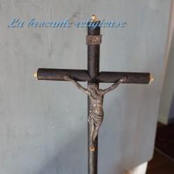 Crucifix ancien époque Napoléon III H 37.5 cm