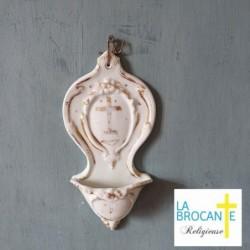 Bénitier XIXème en porcelaine de Paris