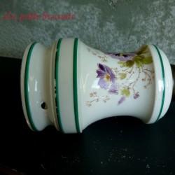 Lampe à pétrole en porcelaine à électrifier