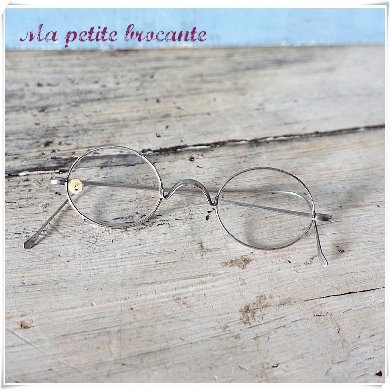 Paire de lunettes ancienne correction 0.75