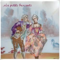 Assiette décorative en porcelaine de Limoges Tressemanes & Vogt  T&V
