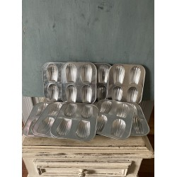Lot de 10 plaques à madeleine en aluminium Alsa