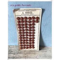 Plaque boutons en fil de soie passementerie A. Houlès Paris XIIe